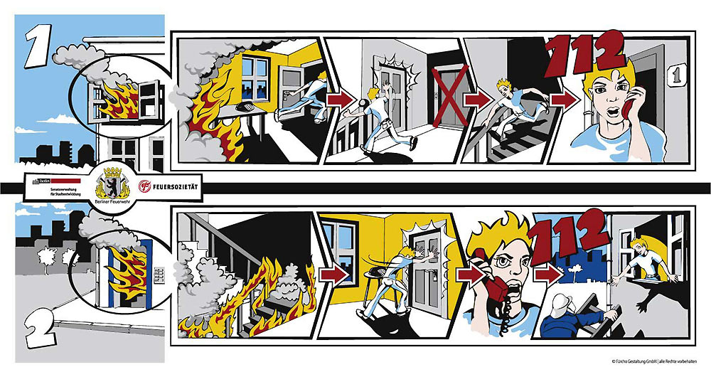 berliner feuerwehr verhalten im brandfall. Black Bedroom Furniture Sets. Home Design Ideas